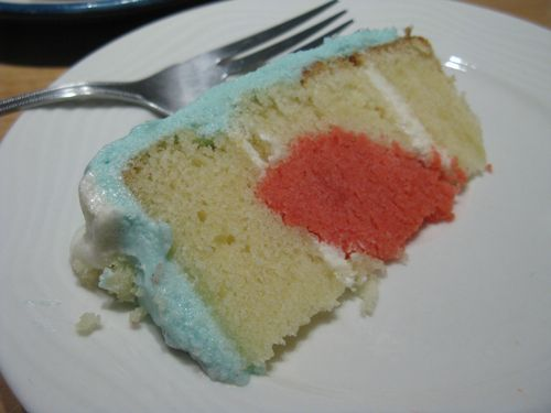 A slice of the heart cake