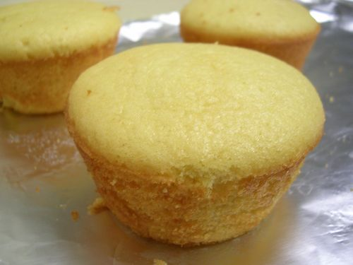 finished orange chiffon cakes